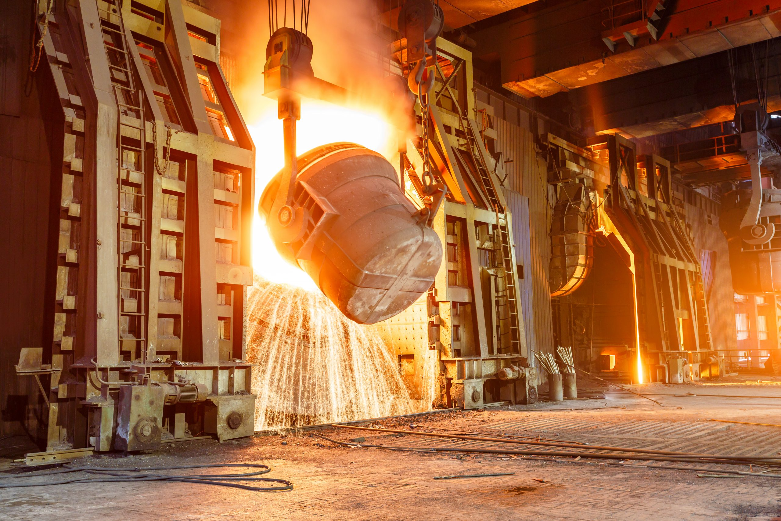 Blast,Furnace,Smelting,Liquid,Steel,In,Steel,Mills