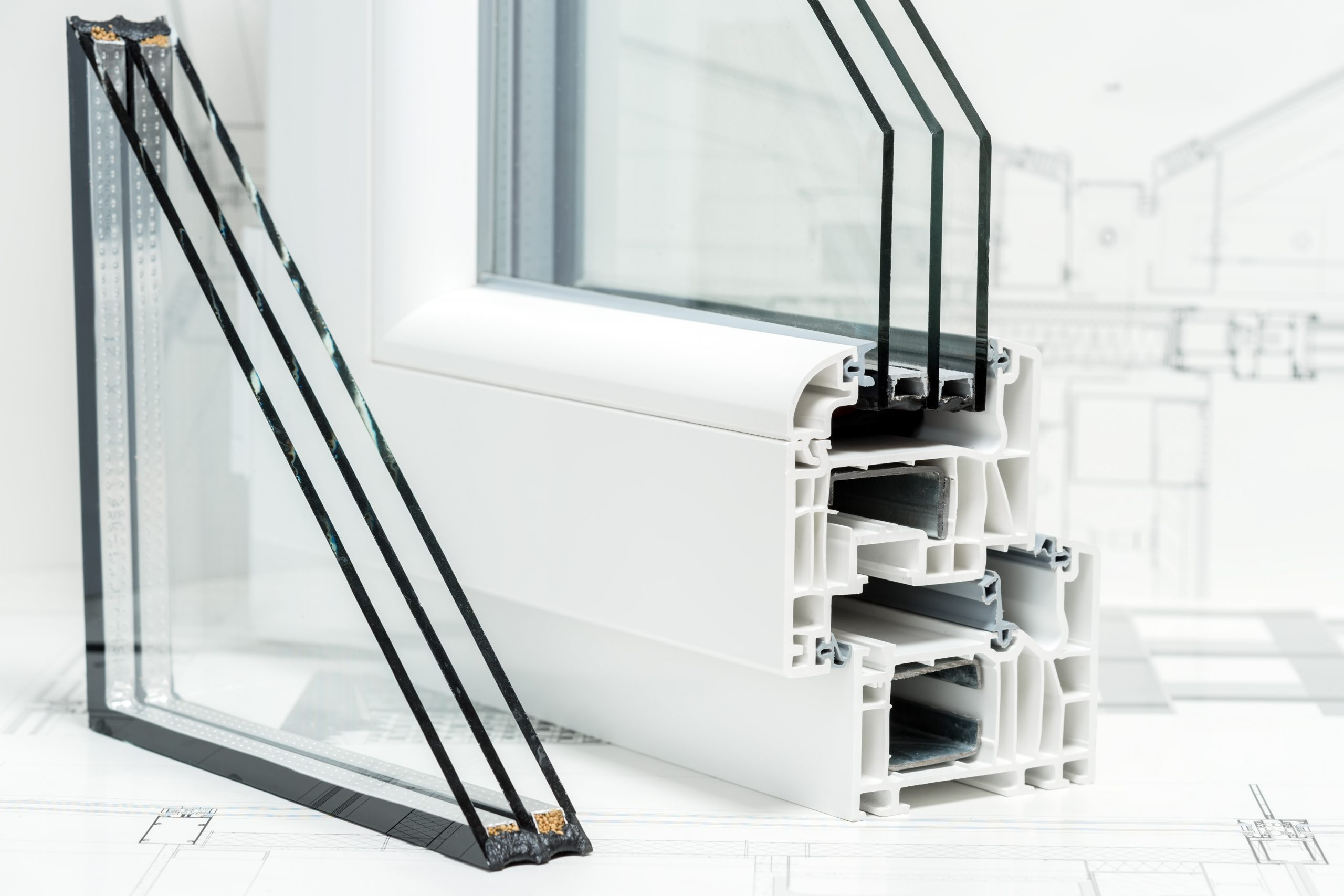 A,Cross,Section,Of,Window,Design,Of,Pvc,Profiles,For